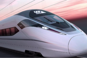 image high speed rail very fast train