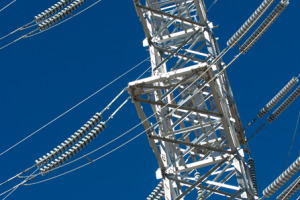 high voltage electricity transmission tower